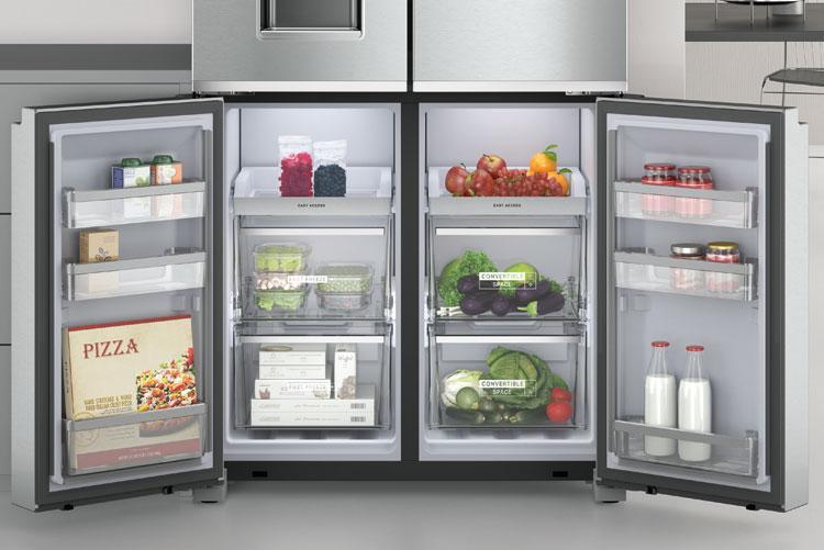 Whirlpool представил четырехдверный холодильник W Collection 4 Doors